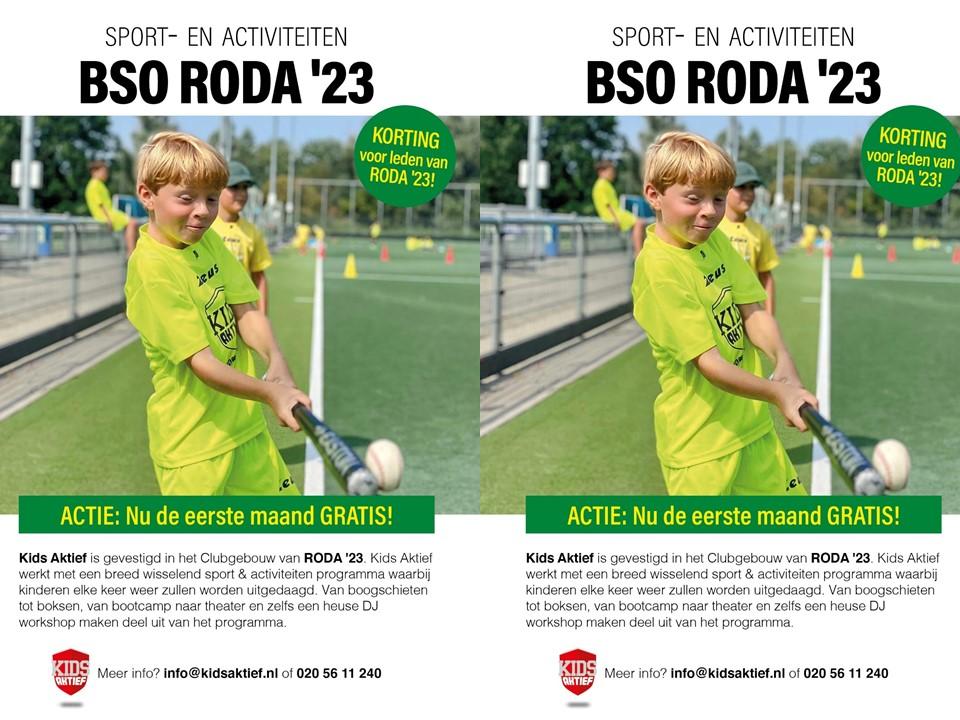 Actie BSO RODA '23 Kids Aktief