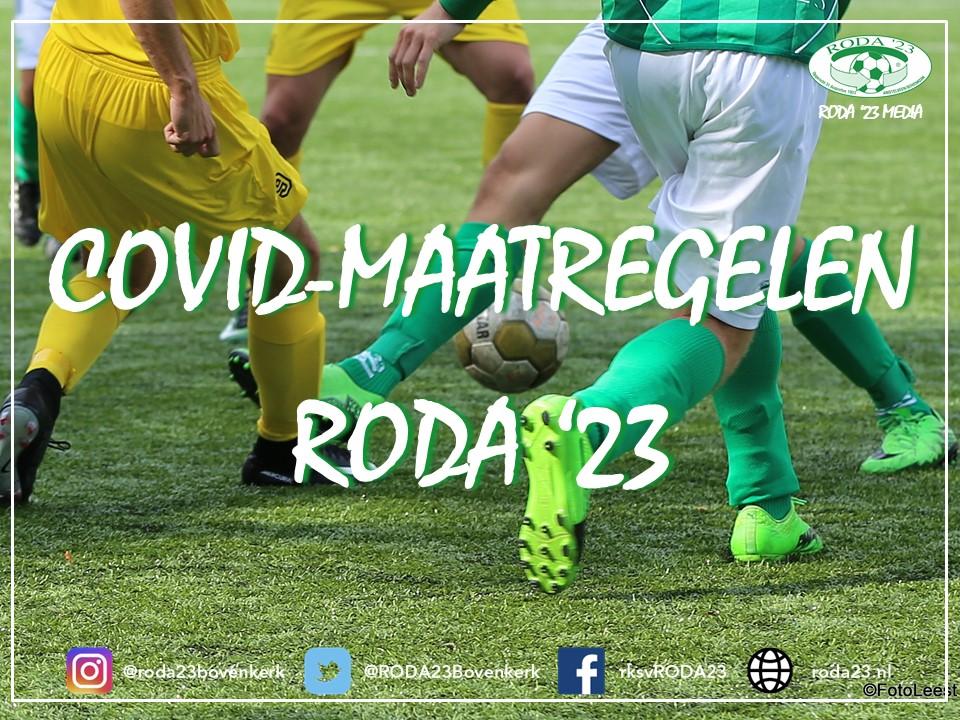 COVID-maatregelen RODA '23 (per 24 juni 2021)