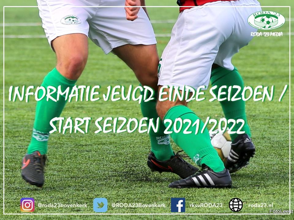 Informatie Jeugd einde seizoen / start 2021/2022