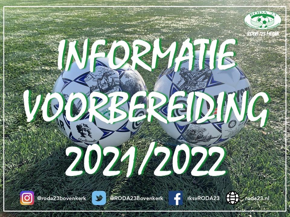 Informatie Jeugd, voorbereiding 2021/2022
