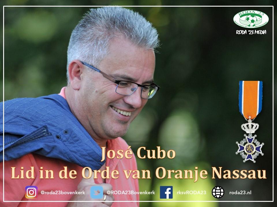 José Cubo benoemd tot Lid in de Orde van Oranje Nassau