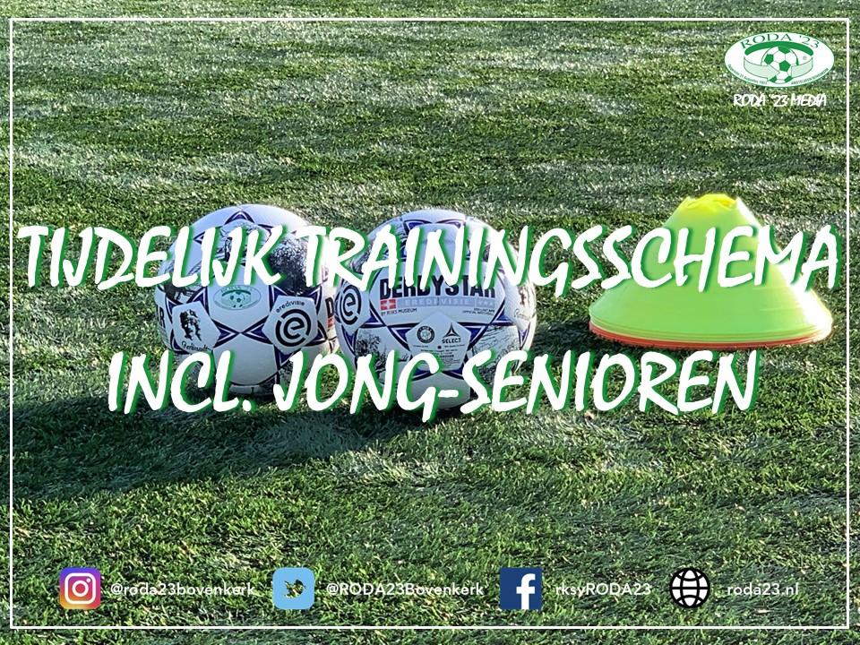 Tijdelijk trainingsschema incl. Jong-Senioren (per 3-maart)