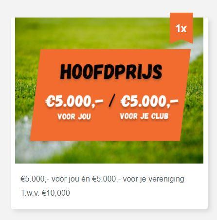 Doe mee met de Amateurvoetbal Loterij en verdien geld voor onze club!